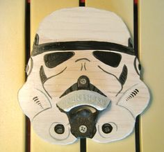 Stormtrooper wall mounted bottle opener by cornheadmuffinbrain, $40.00