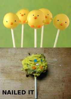 These adorable chick-pops turned out to be terrifying disease-balls.