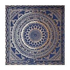 Graham & Brown Embellished Ink Fabric Canvas | Overstock.com Shopping - The Best Deals on Gallery Wrapped Canvas