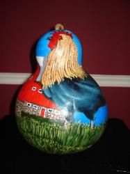 Rooster Barn Gourd