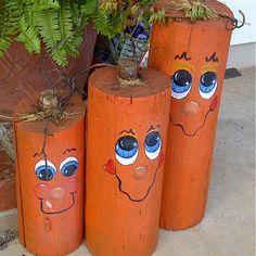 Log Pumpkins More
