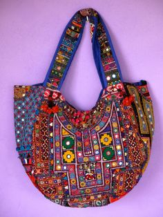 Sac cabas ethnique chic, Banjara Inde available on www.letoilensoi.fr