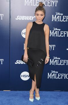 Sarah Hyland at the Hollywood premiere of Maleficent.