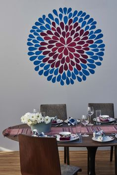 Rich And Bold Patterns That Shout Out For Its Attentions To Tell The Story.  Asian Paints Colours: Silver Grey Berry Bloom Peacock Blue N  0161