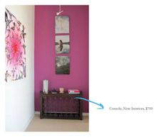 gwyneth's wall: the most perfect fuchsia accent wall
