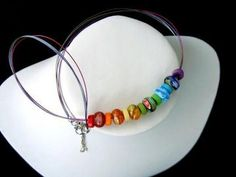 Millefiori Rainbow Necklace by nett for $9.00