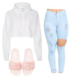 """Rihanna Puma Outfit"" by jjluvsselfies on Polyvore featuring Puma and River Island"