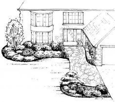 A simple front yard design.