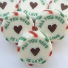 £22.49 All you need is love Wedding Favour Rock Sweets Green