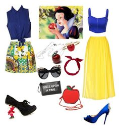 """snowhite"" by tania-sh ❤ liked on Polyvore featuring Alison Lou, Mela Loves London, Dolce&Gabbana, J.TOMSON, Once Upon a Time, L.K.Bennett, Irregular Choice, Badgley Mischka, Nila Anthony and Ally Fashion"