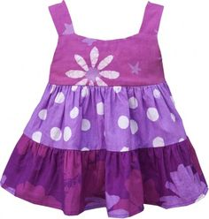 Fair Trade Pink Purple Gypsy Dress