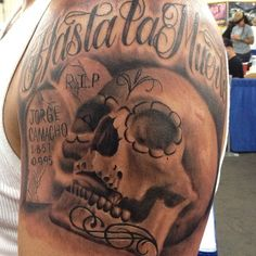 Outstanding Skull Tattoo on Shoulder for Men | Cool Tattoo Designs