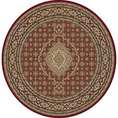 Home Dynamix Regency Collection Traditional Round Machine Made Polypropylene Area Rug