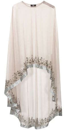 Grey floral beads embroidered cape available only at Pernia's Pop Up… Abaya Fashion, Muslim Fashion, Modest Fashion, Fashion Dresses, Mode Abaya, Mode Hijab, Pakistani Dresses, Indian Dresses, Indian Outfits
