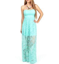 maxi dress teal lace
