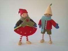 Christmas Elf Dolls Boy and Girl.