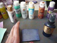 Make your own glimmer mists with metallic or pearlized acrylic paints.  SUPER CHEAP!!!