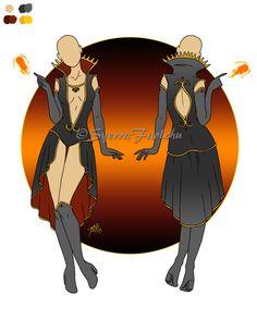 Costume Design - Female 05 [SOLD]  by SyerraFaolchu