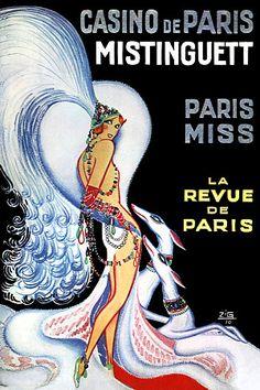 Casino de Paris Mistinguett Paris Miss by Zig Vintage Poster Print