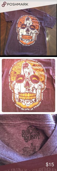 💀SUICIDE BUNNY💀 💀Men's size small hell bunny sugar skull shirt purple bag orange. In brand new condition. suicide bunny Shirts Tees - Short Sleeve