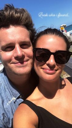 Jonathan Groff with Lea Michele in Fort Lauderdale, 18 April 2018.