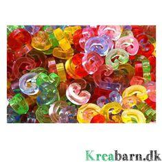 Loom låse i c-form - lav flotte kreationer med Loom – Kreabarn.dk Danmarks største udvalg af tilbehør og elastikker til loom, fun loom og rainbow loom.