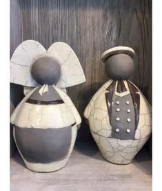 Vente en ligne de figurines Jeannala et Seppala proposée par David Grandmaire et Alsace Boutique Sculptures Céramiques, Sculpture Art, Alsace, Creations, Jar, Statue, Coups, Silhouettes, David