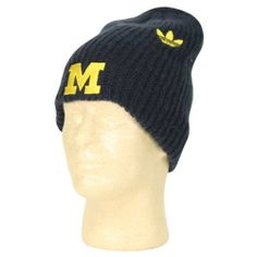 0fbefbcee24 NCAA Thermal Long Winter Knit Beanie Hat by Adidas - Michigan Wolverines by  adidas.  12.99