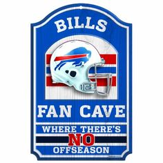 NFL Buffalo Bills 11-by-17 Wood Sign Fan Cave - http://shop.sportsfanplayground.com/6478-374273011-B005H2L10E-NFL_Buffalo_Bills_11_by_17_Wood_Sign_Fan_Cave.html