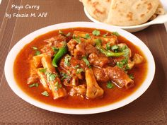 Paya is a traditional Pakistani breakfast dish. It is made using trotters and served with naan or sometimes rice. If done correctly, paya can make for one of the most finger licking and satisfying dishes imaginable!