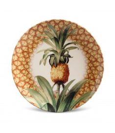 Porto Brasil Cerâmica Tropical Dinnerware, Ceramic Painting, Decoration, Furniture Decor, Luxury Homes, Pineapple, Decorative Plates, Tableware, Home Decor