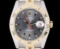 Rolex Datejust Turn-O-Graph Gents Stainless Steel & Yellow Gold Grey Dial B&P 116263 Luxury Watches, Rolex Watches, Rolex Datejust, Gold Watch, Omega, Stainless Steel, Accessories, Yellow, Grey