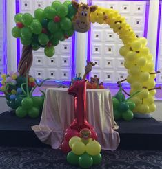 A Jungle themed balloon decoration design we did for a customer of ours Balloon Arrangements, Balloon Decorations, Balloon Delivery, Balloons, Party, Design, Globes, Parties, Design Comics