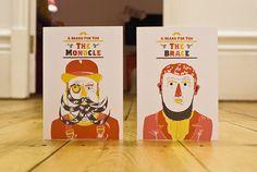 12 Beards of Christmas Cards