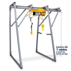 Guincho Pórtico Fixo CSM 350 KGF Smaw Welding, Welding Projects, Woodworking Projects, Homemade Tools, Diy Tools, Lifting Devices, Gantry Crane, Lathe Machine, Mechanic Tools