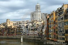 Girona panorama on the east of Spain