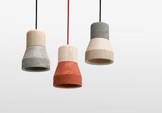 CEMENT WOOD LAMP