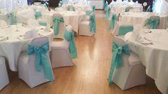 Wedding reception set up at the Horseshoe Inn   Photo by Karen Austin Decorations
