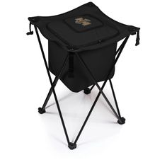 The Sidekick is a portable cooler made of reinforced polyester on a steel frame with a heat-sealed, water-resistant interior with a drainage spout, and adjustable shoulder-carry strap. It features a l