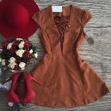 Resultado de imagen para vestidos de gamuza