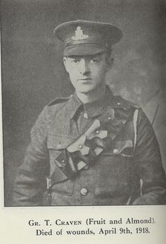 T Craven: one of the many men from our York factory who gave their lives in the First World War.