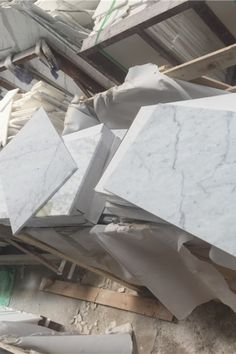 """Italian Carrara (Carrera) White Marble features shining grains and striking, smoky veins of black and grey. Polished or honed - sizes include 3""""x6"""" subway tile, 4""""x12"""", 12""""x12"""", 12""""x24"""", 18""""x18"""" 
