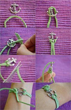 PS : ♡: diy: anchor bracelet