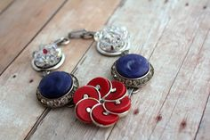 @belmonili.com - , I found this really awesome Etsy listing at https://www.etsy.com/listing/215019365/red-navy-bracelet-americana-french