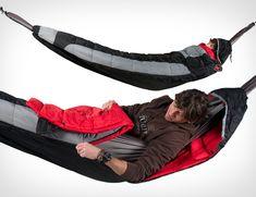 Its a sleeping bag...no its a hammock... no its a ?