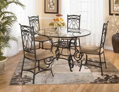 Mural of Wrought Iron Kitchen Tables Displaying Attractive Furniture Ideas