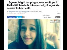 Nutty NY~Teen Plummets To Her Death While Jumping Between Rooftops With Friends 4k - YouTube