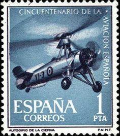 Sello: 50th Anniversary of Spanish Aviation (España) (Spanish aviation) Mi:ES 1296,Yt:ES 1074,Edi:ES 1401
