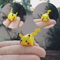 I made a random looking Pikachu but it kinda looks like a tsum tsum now haha…