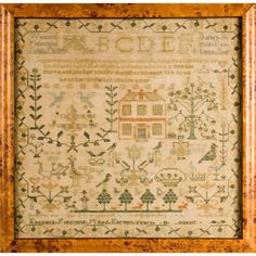 Needlework sampler, possibly Scottish, 19th century, worked by Esabella Fleeming, aged 11